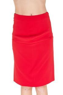 Giorgio Armani RED Silk Knee Length Skirt, 42, Red