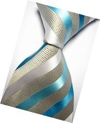 EXT Collectino 100% Silk Necktie, New Classic Striped Light