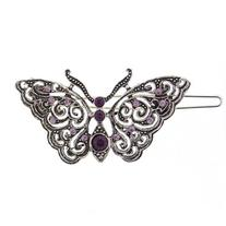 1928 Company Silver and Amethyst Purple Butterfly Barrette