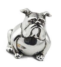 "JustNile Silver Bulldog Minature 6"" Piggy Bank Coin Box"