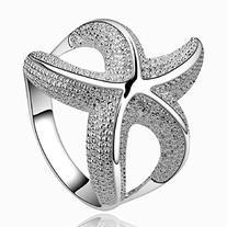 Fashion 925 Sterling Silver Jewelry Chic Curvy Starfish