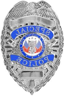 Rothco Special Police Deluxe Badge, Silver