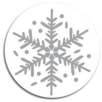 Silver Flakes Christmas Seals - 100 Pack