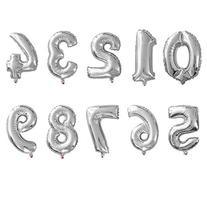 Mcolour Balloon Silver Foil Balloons,Party Supplies 16 Inch