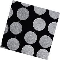 Quasimoon Silver Glitter Round Circle Paper Garland Banner
