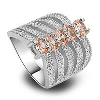Psiroy Women's 925 Sterling Silver 2.5cttw Morganite Filled