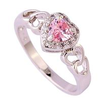 Psiroy Women's 925 Sterling Silver 1cttw Pink Topaz Filled