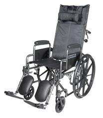Drive Medical Silver Sport Reclining Wheelchair with