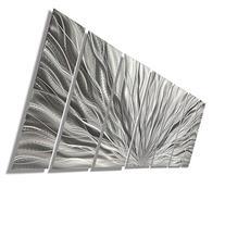 Silver Metal Wall Art - Beautiful Silver Etched Metallic