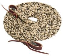 Weaver Leather Silvertip Hollow Braid Trail Rein, Tan/Black/