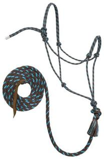 Weaver Leather Silvertip #95 Rope Halter with 10-Feet Lead,
