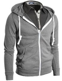 H2H Mens Fashion Lightweight Zip-up Hoodie with Pocket Of