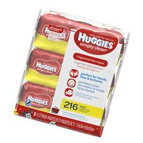 Huggies Simply Clean Baby Wipes, Soft Pack, Fragrance Free,