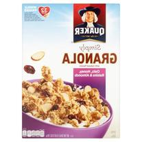 Quaker Simply Granola Oats, Honey, Raisins & Almonds 28oz