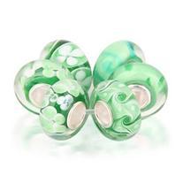 Bling Jewelry Simulated Peridot Murano Glass Bead Set 925