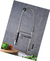 Single Handle Pull Down Pre-rinse Spring Kitchen Faucet with