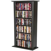 Venture Horizon Single Media Storage Tower Bookcase-Black