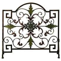 Single Panel Metal Fireplace Screen