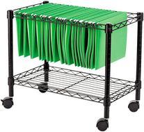 * Single-Tier Rolling File Cart, 24w x 14d x 21h, Black