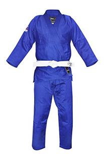 FUJI Single Weave Judo GI, Blue, 2