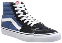 Vans Unisex Sk8-Hi Navy/White Sneaker - 7.5