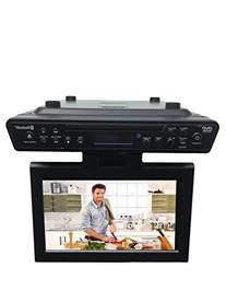 """Sylvania SKCR2706BT 10.2"""" Under Cabinet Kitchen TV with"""