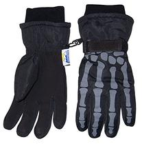 N'Ice Caps Boys Skeleton Print Waterproof Reflector Glove