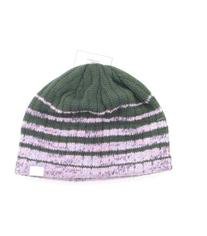 New Chaos Ski and Snowboard Beanie Hat Gray & Purple