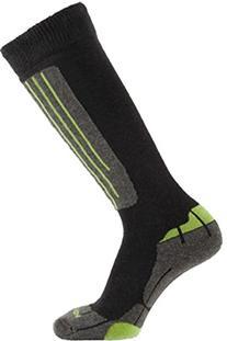 """Horizon Men's """"Carve"""" Ski-Socks Medium 6«-9 Charcoal/Lime"""