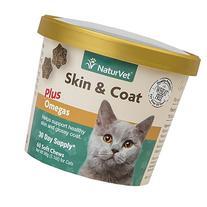 Garmon Corp NaturVet Skin & Coat Plus Omegas for Cats, 60 ct
