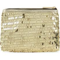 Skinny Dip Gold sequin make-up bag