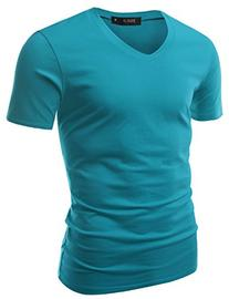 Doublju Mens Classic Regular Fit Solid Color Short Sleeve T-