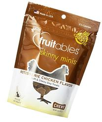 Fruitables Skinny Minis Chewy Dog Treats in Rotisserie