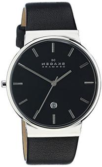 Skagen Men's 'Ancher' Quartz Stainless Steel and Leather