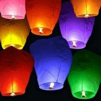 20 Pcs Chinese Sky Fly Fire Paper Lanterns Wish Balloon