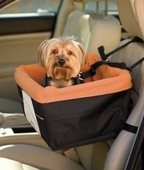 Kurgo Skybox Dog Booster Seat for Cars with Seat Belt Tether