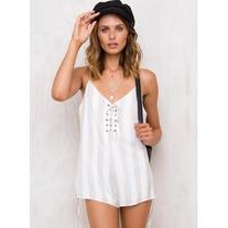 Sleeping Sunset Lace Up Romper