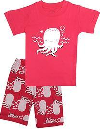 "Babyroom ""Octopus"" Girls'2 PCS sleepwear Short Pajama Set"