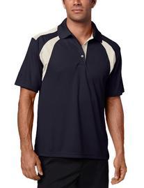 PGA TOUR Men's Short Sleeve Chest Shoulder Color Block Polo