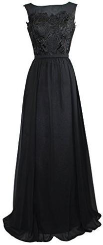 Meier Women's Sleeveless Sheer Neck Lace Mother of Bride