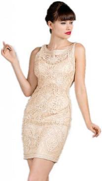 Meier Women's Sleeveless Short Lace Mother of Bride