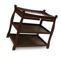 Sleigh Style Baby Changing Table in Espresso