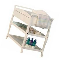 Sleigh Style Changing Table with Drawer White