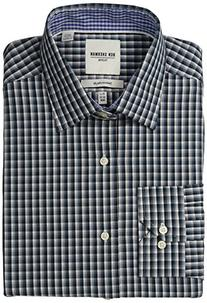 Ben Sherman Men's Slim Fit Multi Plaid Spread Collar Dress