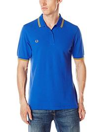 Fred Perry Men's Slim-Fit Twin-Tipped Polo Shirt, B Regal/