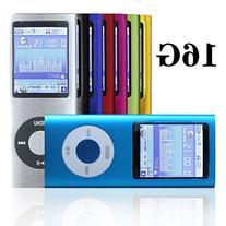 """G.G.Martinsen 16 GB Slim 1.78"""" LCD Mp3 Mp4 Player Media/"""
