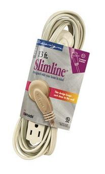 Slimline Extension Cord 16/3 Spt-2 13 ' Tan Ul
