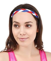 No Slip Womens Sports Headband with NO SLIP GRIP. Keeps Your