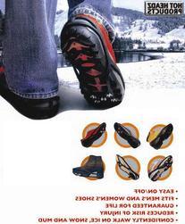 Hot Headz No-Slip Ice Cleats, Black, X-Large