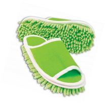 YUPENGDA Slipper Genie Microfiber Cleaning Slippers, Green